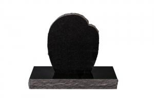 Nr 102 svartur - Steinn H:67xB:50 - Sökkull 80x35 -Verð 249.000
