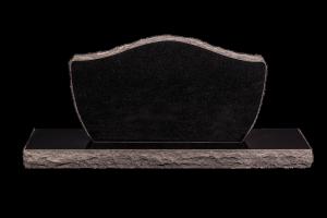 Nr 110 svartur - Steinn H:57xB:100 - Sökkull 130x30 - Verð 335.000