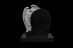 Engill 1 svartur - Steinn H:80xB:70 - Sökkull 80x40 - Verð 530.000