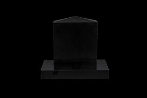 Nr 228 svartur - Steinn H:46xB:40 - Sökkull 60x30 - Verð 180.000